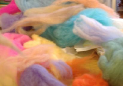 making coloured wool